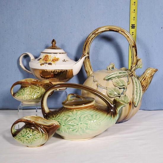 McCoy Tea Set, Asian Design and Arthur Wood Teapots