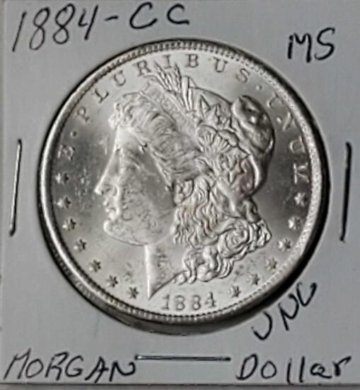 1884-CC Morgan High Grade Silver Dollar