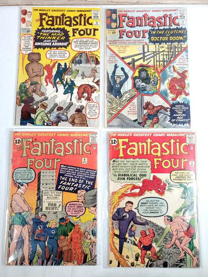 4 Silver Age 1962 & '63 Fantastic Four Marvel Comic Books incl. Issue #6