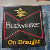 Electric Budweiser On Draught Advertising Sign