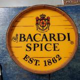 Electric Ron Bacardi Spice Barrel Advertising Sign