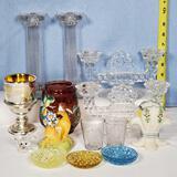 16 Pcs Victorian, Elegant, EAPG and Figural Glass