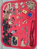 Collection of Antique & Vintage Buttons, Jewelry, Shirt Studs, Etc.