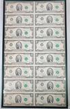 1976 $2 Uncut Sheet Of 16 $2 Dollar Bills Federal Reserve Notes!!