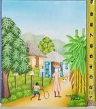 Hyppolite Felizor Haitian Painting on Panel