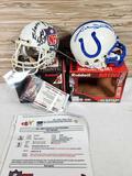 2000 Unsung Heroes NFL Autographed Mini Helmet w/ PSA Coa & Johnny Unitas Signed Indianapolis Colts