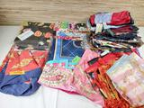 30+ Vintage Silk Scarves Many Designer, Some New with Tags