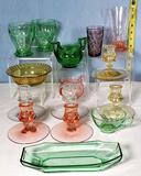 15 Pcs Heisey Colored Glass