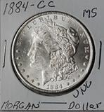 1884-CC Morgan High Grade Silver Dollar