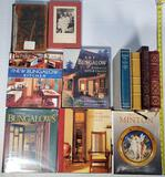 10 Collectible Books - Easton Press Classics, Signed Works, Minton and Bungalow Coffee Table & More