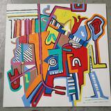 Phyllis Trager Hyman (1936-2011) Acrylic On Canvas
