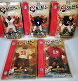 5 NFL Extreme Athletes Action Figures in Orig. Packaging
