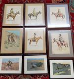 9 Framed Fredrick Remington Prints