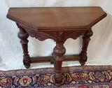 Antique Folding Gate Leg Octagon Table