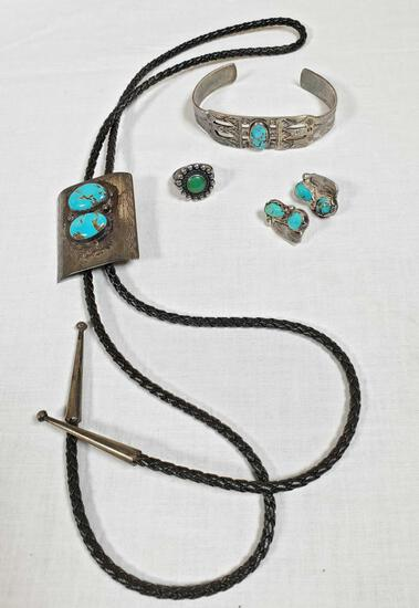 Lot Of Sterling Silver Native American Jewelry