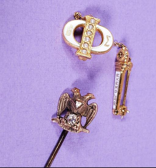 Gold Fraternal & Sorority Jewelry