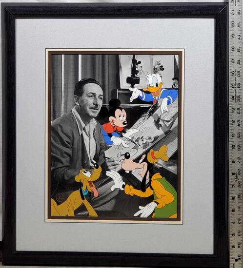 """""""Walt's Drawing Board"""" Limited Edition Hand Painted Character Animation  Cel 299/950"""