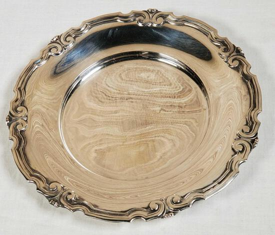 """Tiffany & Co. Makers Sterling Silver 6 1/2"""" plate"""