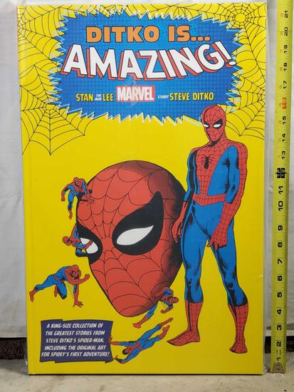 "21"" Giant ""Ditko is Amazing"" King Size Hard Bound Compilation of Spiderman Classic Comics"