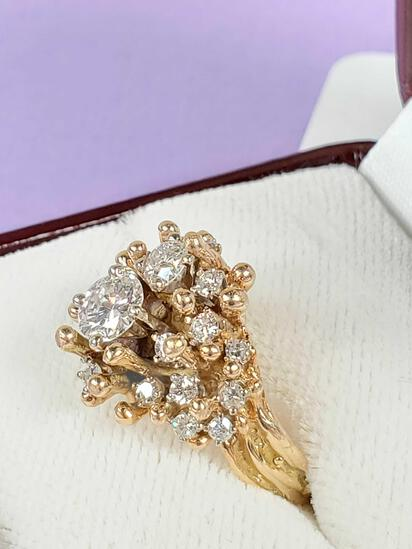 Beautiful 14k Gold & Diamond Ring with Recent $7000 Appraisal