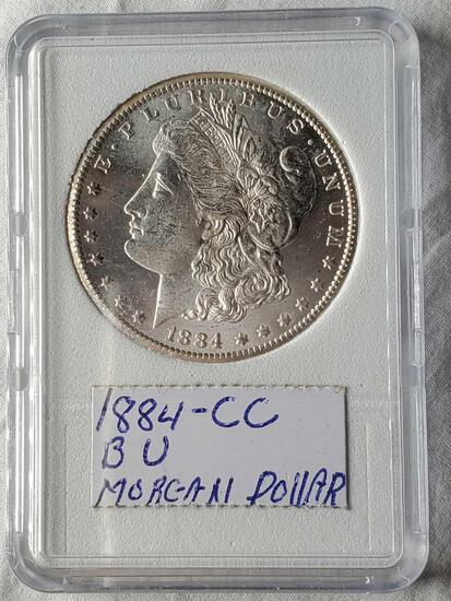 Brilliant Uncirculated 1884-CC Morgan Silver Dollar