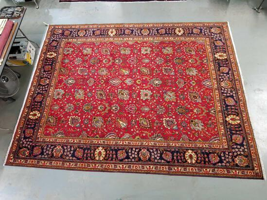 "120"" x 164"" Hand Knotted semi Persian 100% Wool Pile Rug"
