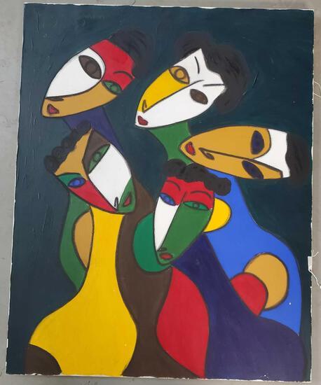 """Cristobal Gonzalez Guzman Ecuador """"Faces"""" 2000"""
