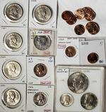 5 BU Franklin Half Dollars, 1976 Proof Set, US Proof and Other Coins