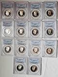 14 PR69DCAM PCGS Silver Kennedy Half Dollars, Consecutive 1992-S tp 2005-S
