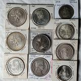 10 Foreign Silver Coins