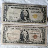 1935A North Africa Yellow Seal and Hawaii $1 one dollar bills