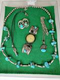 Tray of Native American Sterling Silver Jewelry
