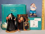 Walt Disney's Classic Collectibles WDCC The Witch and Mr Smee Porcelain Figurines with Boxes