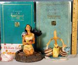 2 WDCC Porcelain Figurines with Boxes - Pocahantas and Bucket Brigade