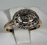 14K Yellow & White Gold Diamond ring