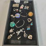 Tray Lot Of Sterling Silver Jewelry
