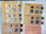 5 US Mint Silver Proof Sets with Original Envelopes - 1958, 1961, 1962, 1963 and 1964