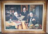 J. Moretti Still Life Oil on Canvas Painting
