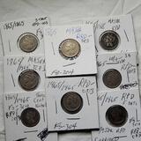 8 -1865/1865 RPD-003 FS-304 Three Cent Nickel Die Variety Error Coins