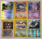 6 Pokemon Rare Holo and Reverse Holo Special Interest Cards