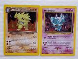 2 Hard to Find Rarer Pokemon Holo Trading Cards - Dark Tyranitar 11/105 and Misdreavus 11/64