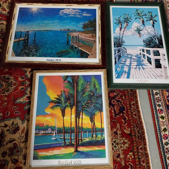 3 Sunfest West Palm Beach Framed Posters