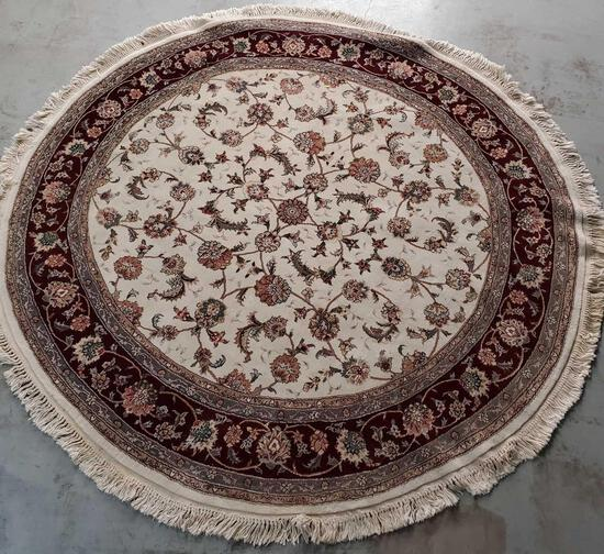 Persian Cotton, Silk, & Wool Rug