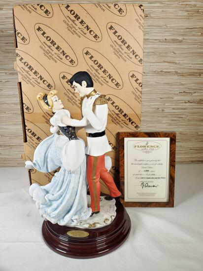 1984 Florence Limited Ed. Walt Disney's Cinderella and the Prince Figurine by Giuseppe Armani