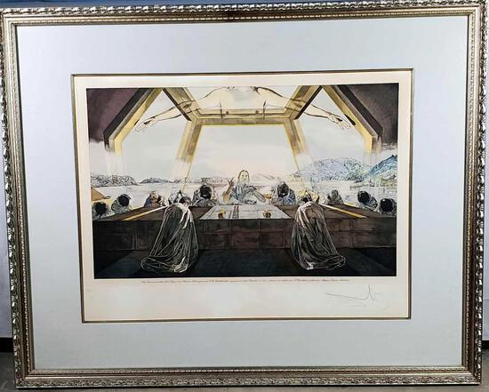 Salvador Dali 1982 The Last Supper Hand Colored Signed Etching #3/225, Magui Publishers
