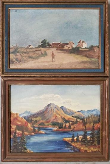 Two Paintings J. P. V. Robichon; Unknown