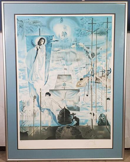 Salvador Dali Discovery of America by Christopher Columbus 1982 Signed