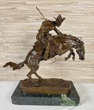 Bronze Riding Cowboy After Frederic Remington