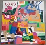Phyllis Trager Hyman (1936-2011) Acrylic On Canvas 2004