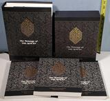 The Message of The Q'uran 2003 and 3 Vol Paperback Set in hard Sleeve, Translated by Muhammed Asad
